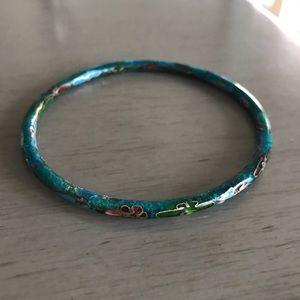 Vintage Cloisonné bangle bracelet